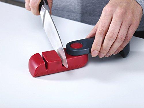 Joseph Joseph 10048 Rota Folding Knife Sharpener and Honer, Grey