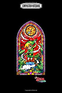 Composition Notebook: The wind waker stained glass consoles super lanyard gameboy handhe...