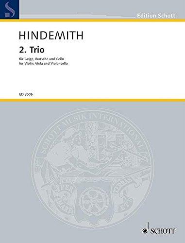 2. Trio: für Geige, Bratsche und Cello. Violine, Viola und Violoncello. Studienpartitur. (Edition Schott)