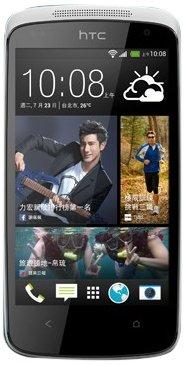 HTC Desire 500 Smartphone (8 Megapixelkamera, 10,9 cm (4,3 Zoll) Display, 1,2GHz, Quad-Core Prozessor, Android) glacier blue