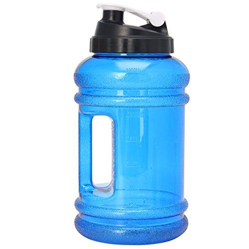 YO-HAPPY 2.2L Big BPA Free Sport Gym Training Bebida Botella de Agua Cap Tetera Entrenamiento Caliente