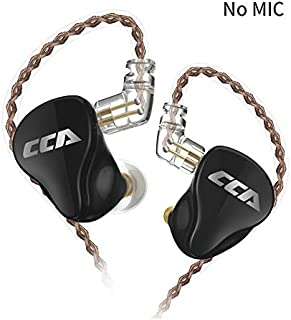 $89 » HiFi CCA CA16 in Ear Headphone,7BA+1DD One Side in-Ear Earphones/Earbuds,Full Bass Mid & High Sound Quality in Ear Monitors Design with Detachable Cable C pin 0.75mm Gold Plated (Black No Mic)