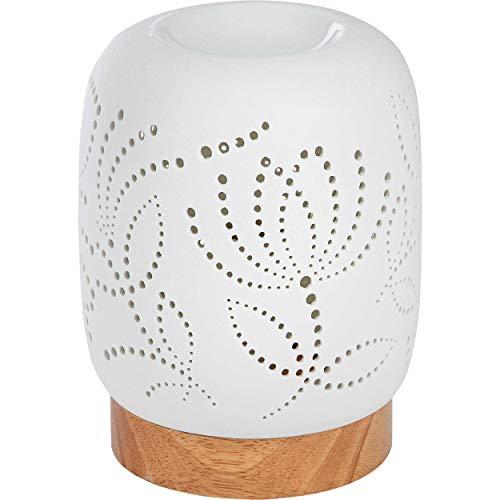 ONVAYA® Duftlampe | Elektrisch | Farbe: Creme weiß | Aroma Diffuser | Aromalampe | Duftstövchen | Modernes Duftlicht (Katja)