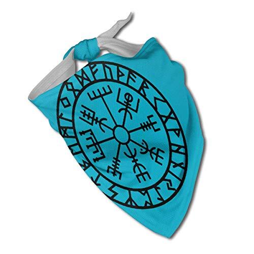 Sdltkhy Wikinger Runen Symbol Original Hund Bandana Halsbänder Dreieck Halstuch Lätzchen Schals Zubehör Haustier Katzen Baby Welpen Speichel Tuch