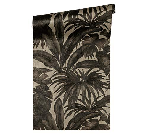 Versace wallpaper vliesbehang Giungla luxe behang met palmbladeren jungle 10,05 m x 0,70 m beige, bruin, metallic