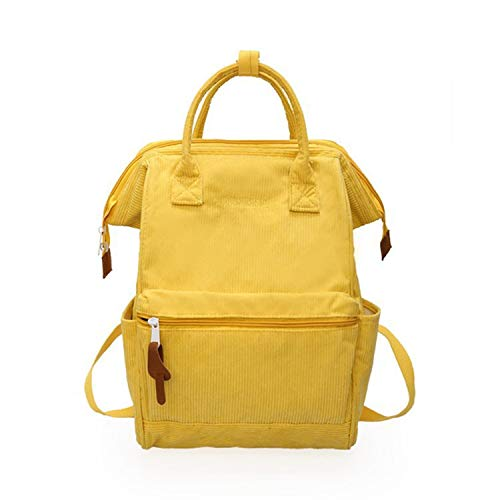 Ghosthunter Backpacks Damen Schulranzen für Teenager größere Kapazität Casual Reisen Rucksäcke Frauen Rucksack, Gelb - gelb - Größe: Einheitsgröße