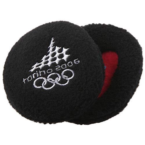 Earbags Olympische Spiele Ohrenwärmer Mütze Warm Torino 2006 Vancouver 2010 Ohren Stirnband, EBOS0610, Farbe Torino 2006 Schwarz, Größe S
