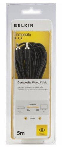 Belkin F3Y085BF5M Verbund Video/FBAS-Kabel - Composite Video-/FBAS-Kabel (RCA, RCA, Männlich/männlich, Kupfer, Schwarz, Blister)