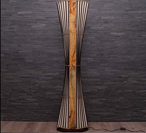 Asiatische Stehleuchte 150cm Designer Stehlampe Naturlampe Leuchten Bali Deko (L8)