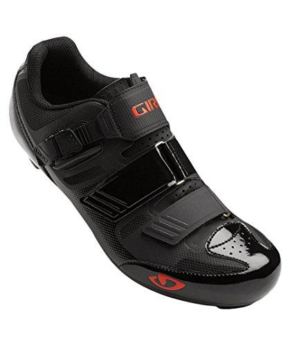 Giro Herren Apeckx Ii Hv Road Radsportschuhe - Rennrad, Mehrfarbig (Black/Bright Red 000), 44.5 EU
