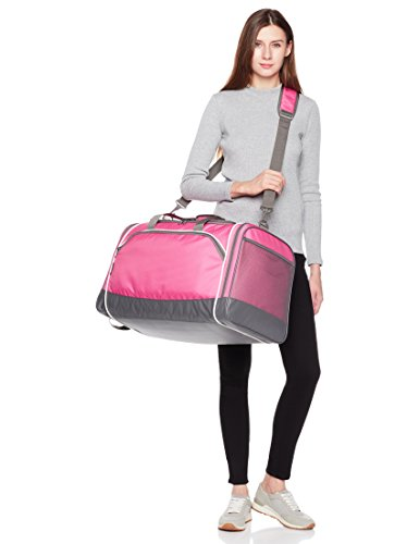 Amazon Basics Medium Lightweight Durable Sports Duffel Gym and Overnight Travel Bag - Pink