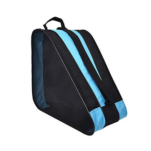 SENDILI Skate Bag - Bolsa para Patines de Hielo y Patines de Linea Respirable y Impermeable, Tela Oxford, Azul, 39 * 20 * 38cm