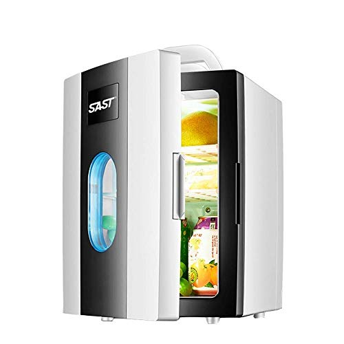 Portable Car Refrigerator Portable Freezer, 10L Mini Fridge Cooler And Warmer, 12V Dc / 220-240V Ac Food And Beverage Storage Machine For Camping, Travel (Color : Black)