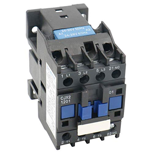 Contactor de corriente alterna CJX2-1201 24 V 50/60 HZ de 3 polos normalmente cerrados