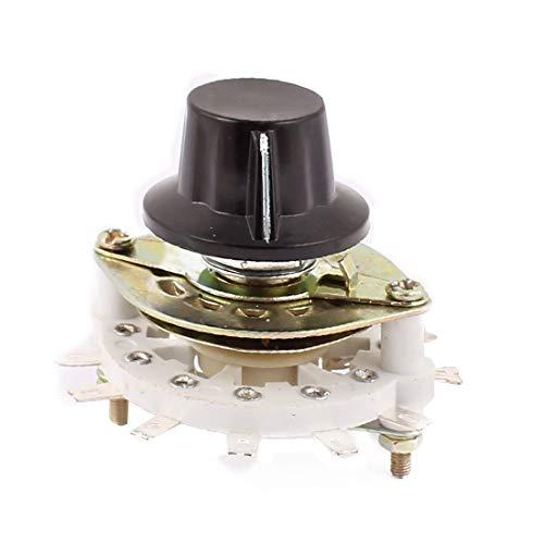 New Lon0167 KCT 11 polo 1 tiro Selector de interruptor giratorio de canal de banda de eje de 6 mm con tapa(KCT 11 Pol 1 Wurf 6mm Wellenband Kanal Drehschalter Wahlschalter w Cap
