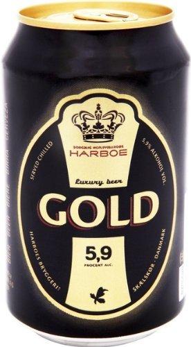 Harboe Beer Gold 5,9% 24x0,33 ltr. dänisches Bier inkl. Pfand