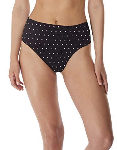 Freya Jewel Cove High-Waist Bikini Bottom, XS, Black