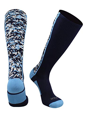 TCK Digital Camo OTC Socks (Navy/Columbia Blue, Large)