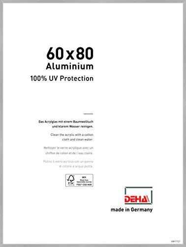 DEHA Aluminium Bilderrahmen Tribeca, 60x80 cm, Struktur Silber Matt