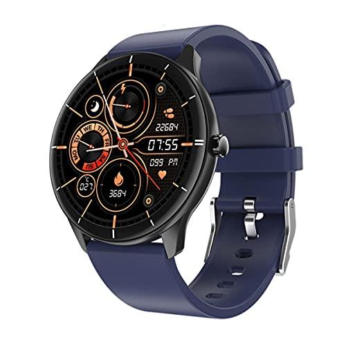 Relojes inteligentes para hombres y mujeres, pantalla táctil completa de 1.28 ', reloj inteligente para teléfonos Android y teléfonos iOS, rastreador de ejercicios a prueba de agua IP68, reloj con m