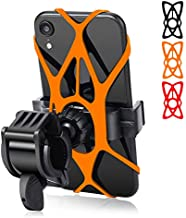 Bike Phone Mount - Trkimal Universal Adjustable Cell Phone Holder for Bicycle Motorcycle Compatible with iPhone Max Xr Xs X Pro 12 11 8 7 Plus, Galaxy S20 S10 S9 S8 S7 Edge Note 10 9 8 7