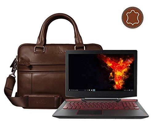 Leder Laptoptasche für Damen/Herren passend für Lenovo Legion Y720 15 | Braun