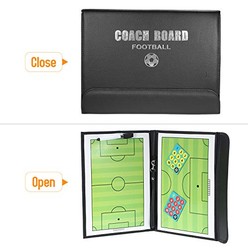 Bedler Basketball Coaches Magnetic Tactic Board Faltbare Strategie-Zwischenablage mit einem Write Wipe 2-in-1-Stift (Basketball) Coaches Magnetic Tactic Board Faltbar