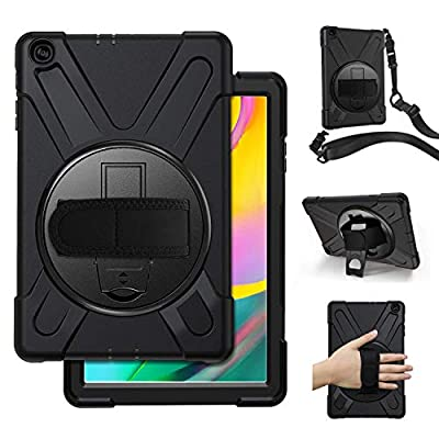 Samsung Galaxy Tab A 10.1 Case 2019,SM-T515/T510 Case with Hand Strap,Herize Heavy Duty Full-Body Rugged Protective Shockproof Case