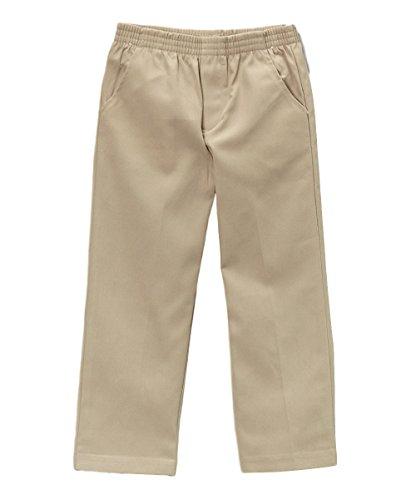 unik Boy's Uniform All Elastic Waist Pull-on Pants BU03 Khaki 8