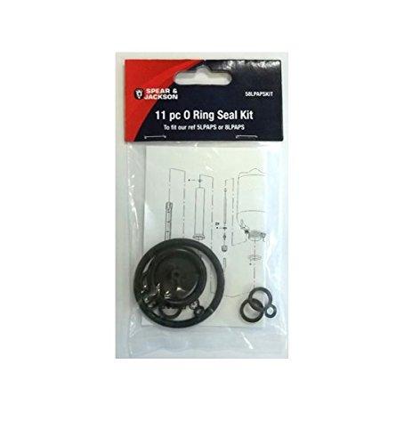 Spear & Jackson 58LPAPSKIT Set of 0 Ring Seals for 5LPAPS and 8LPAPS, Black, 15 x 9 x 5 cm