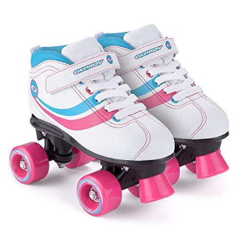 Chica Toyrific - Patines Retro, color Blanco White/Blue/Pink/Black, talla 32