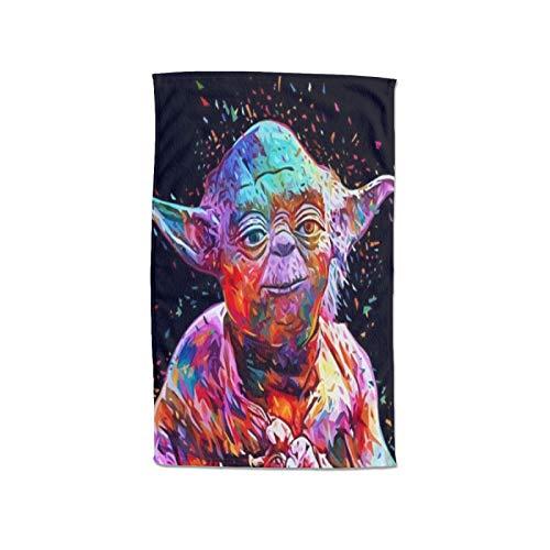 Large Puzzle Master Yoda Toalla de playa de microfibra de secado rápido, toalla superabsorbente, toalla libre de arena, para niños, adolescentes, adultos, viajes