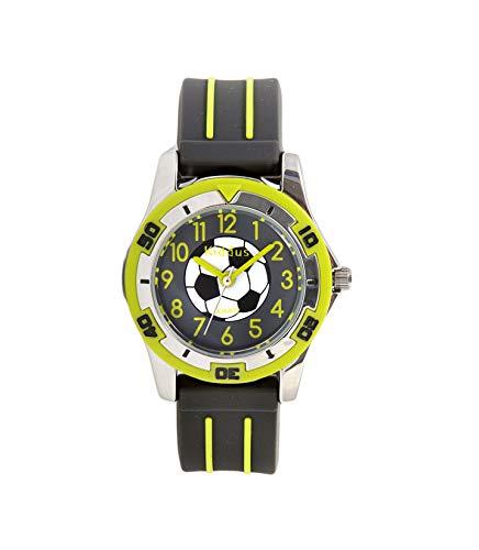 KIDDUS Qualitätsuhr für Mädchen, Jungen, Kinder. Analoge Armbanduhr mit Zeitlernübungen, japanischen Quarzwerk, gut lesbar, um ganz leicht zu Lernen, die Uhr zu lesen. KI10501 Fußball Grün