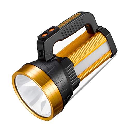 SXXRZA zaklamp en mobiele oplader 3-in-1 LED-campinglamp, 10000mAh lithium batterij, 6 modi, super ver verlichting 3500 meter, inclusief oplader