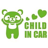 imoninn CHILD in car ステッカー 【パッケージ版】 No.12 パンダさん (黄緑色)
