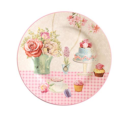 Tianboy_plate Keramikgeschirr Tapas Plate  Brot und Butterbehälter  20.5cm Vorspeisen Entrees Platte  Spülmaschine Mikrowelle Safe Easy Clean Geschirr