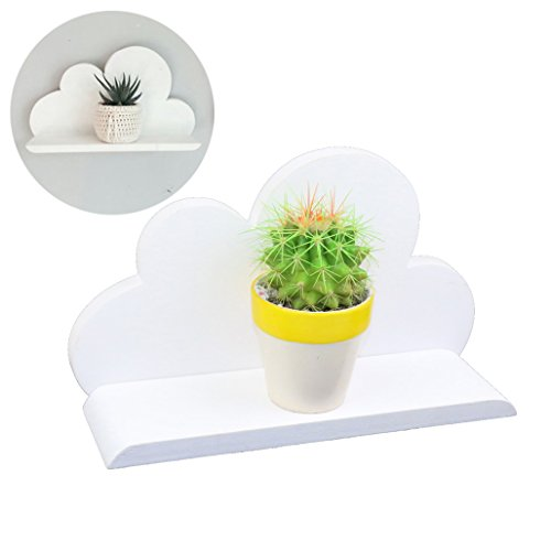 Lemo hecha a mano -white plataforma de nube de madera decorativa HD14
