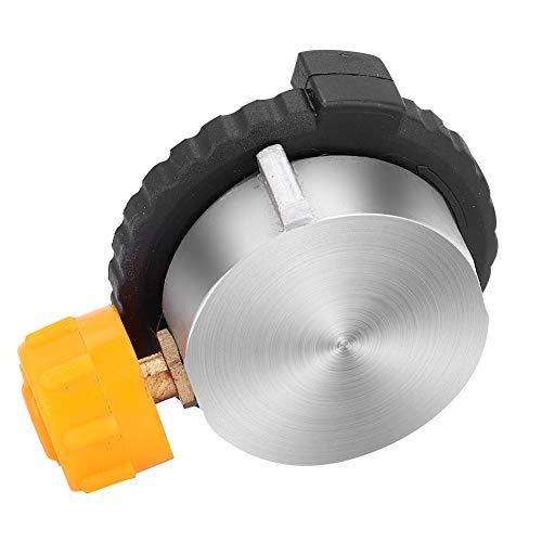 Conector de estufa, BiuZi, cabezal de conversión portátil para acampar al aire libre, adaptador de botella de tanque de gas, conector de estufa, acelerador, pedal de gasoleo, flatulencia, arre