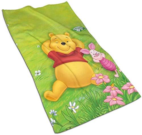 HUYIN Winnie The Pooh Spring Soft Super Absorbente Toalla de Mano de Secado rápido/Toalla de baño/Toalla de Playa - 27,5 X 17,5 Pulgadas