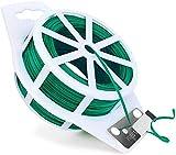 auvstar 100m Laccetti Lacci per Piante da Giardino, Gardening Twist Tie,Filo per Giardinaggio, Home Kitchen Food Bag Sealing Tie Wire (Verde)