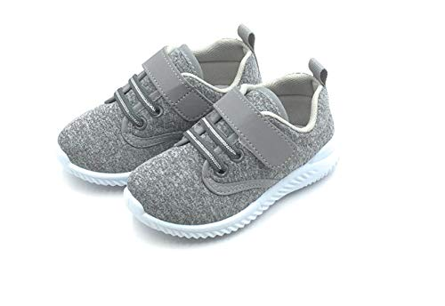 Bless Children Baby Toddlers Boy's Girl's Breathable Fashion Sneakers Walking Running Shoes,Grey1901.Size 4