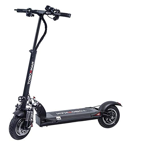 NANROBOT D5+ 2.0 Foldable Lightweight 2000W Electric Scooter with Top Speed of 40 MPH andTraveling up to 50 Miles Range - Black+Red (Pro Scooter)