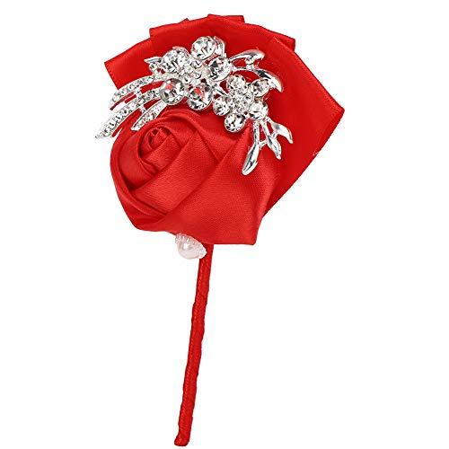 2 broches de boda, novio de novia, flor ramillete joyería para decoración de bodas