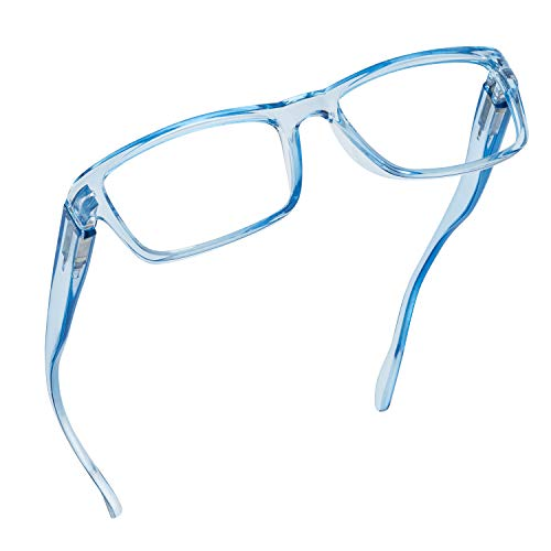 Readerest Blue Light Blocking Reading Glasses (Light Blue, 1.25 Magnification)