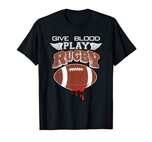 GIVE BLOOD PLAY RUGBY Fan of USA Rugby Player T-Shirt