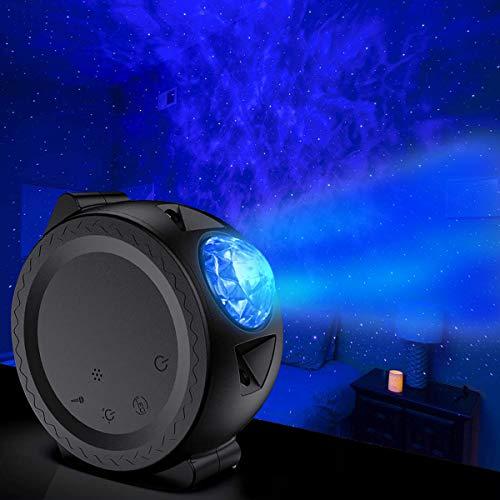 Sternenhimmel Projektor Lampe, FOCHEA 3 in 1 Ozean Wellen LED Sternenhimmel LED Projektor Sternenhimmel Lampe mit Touch-Bedienung, 13 Beleuchtungsmodi und Musiklautsprecher für Kinder, Party
