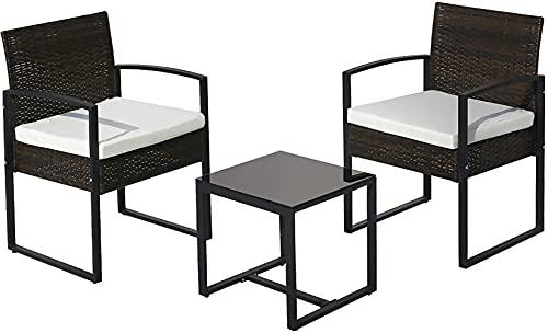 Xkun, sedia da giardino in alluminio pressofuso europeo, tavolo e sedia da giardino, adatto per giardino/cortile/giardino