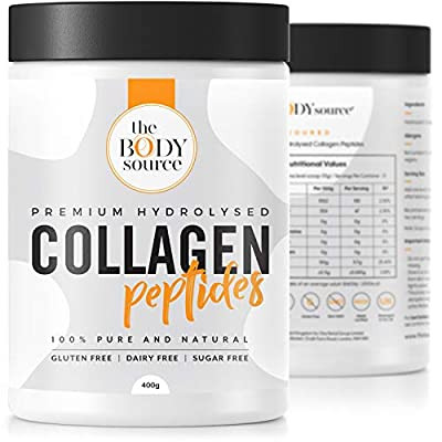 Premium Hydrolysed Collagen Powder | High Quality Unflavoured Bovine Collagen Peptides | Quick Dissolve Collagen Protein Supplement for Healthy Bones, Muscles, Hair, Nails, Skin & Joints – 400g