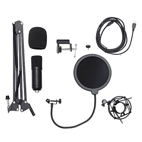 Generic USB Microphone Kit Plug & Play PC Computer Podcast Condenser...