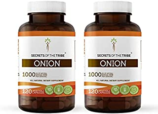 Onion 120 Capsules(2 pcs.), 1000 mg, Organic Onion (Allium Cepa) Dried Bulb (2x120 Capsules)